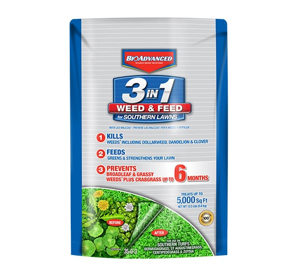 Bayer 3-In-1 Weed And Feed For Southern Lawns
