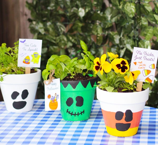 how to make halloween planters
